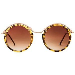 Spitfire A-Teen Tortoise Shell and Gold Sunglasses